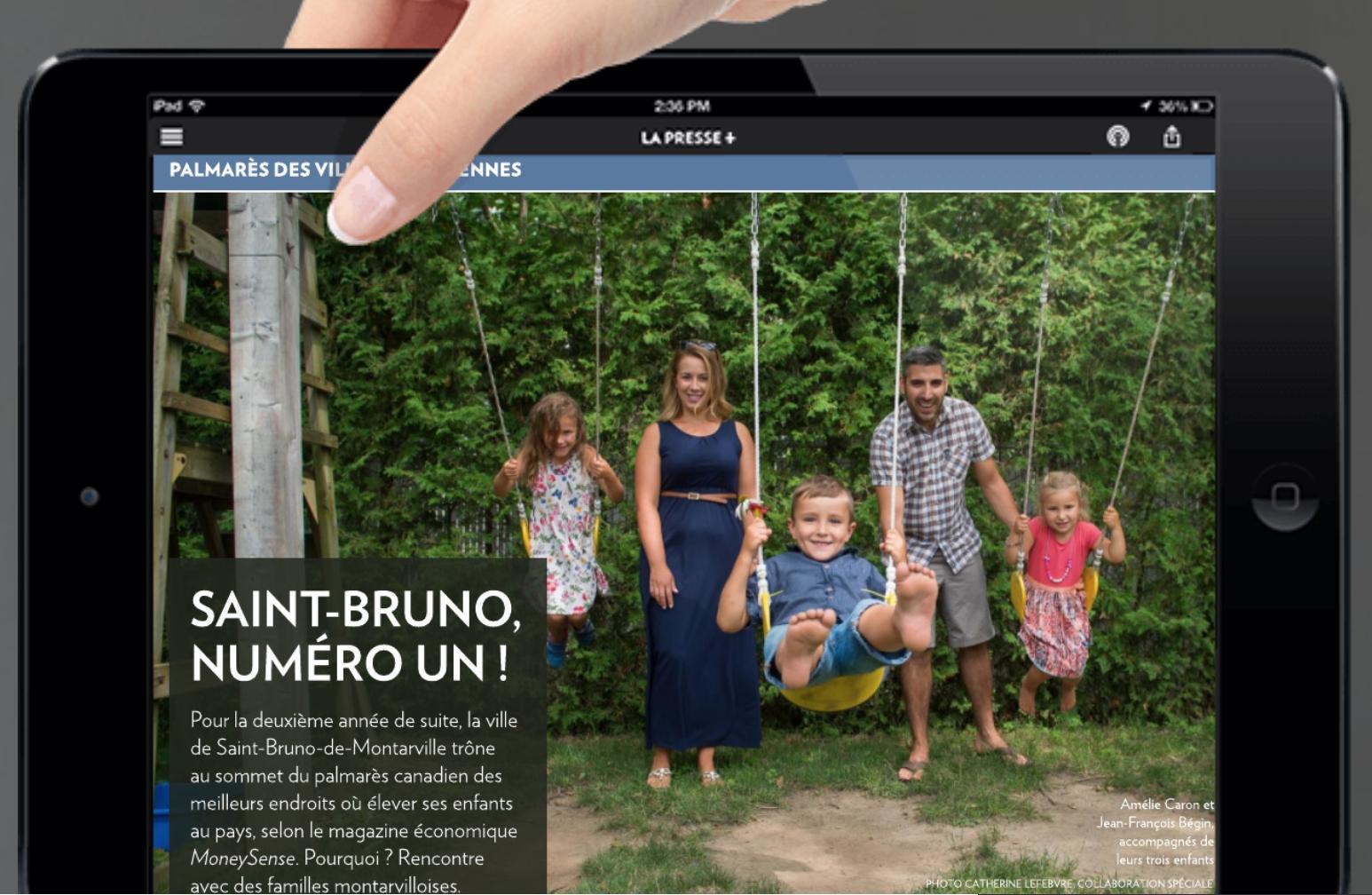 PALMARÈS CANADIEN DES MEILLEURS ENDROITS OÙ ÉLEVER SES ENFANTS SAINT-BRUNO, NUMÉRO UN !