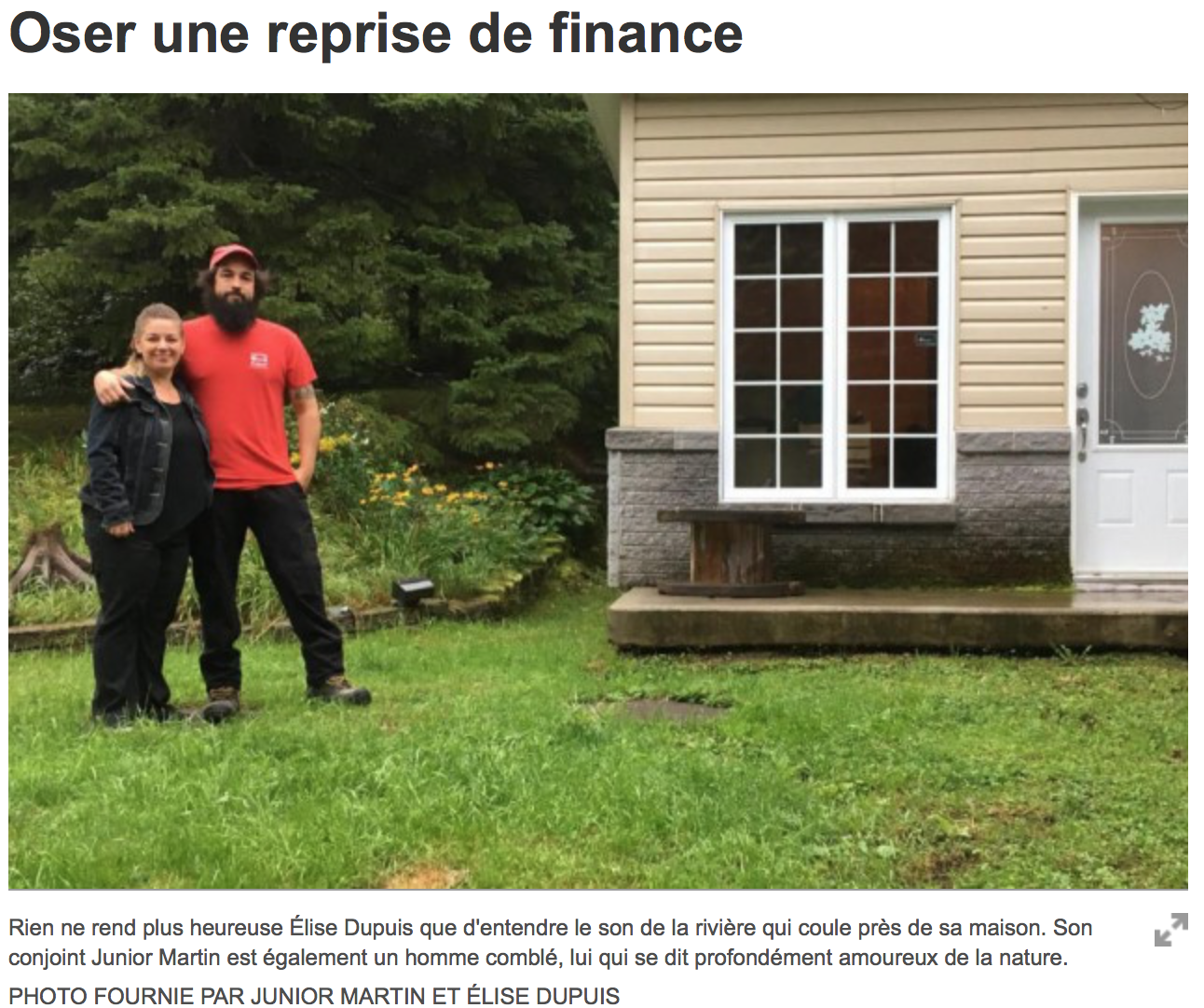 OSER UNE REPRISE DE FINANCE